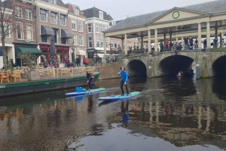 plastic soup surfer Merijn Tinga en Frans Timmermans