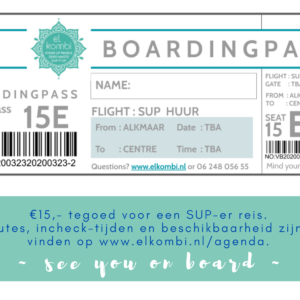 Boardingpass €15 webshop