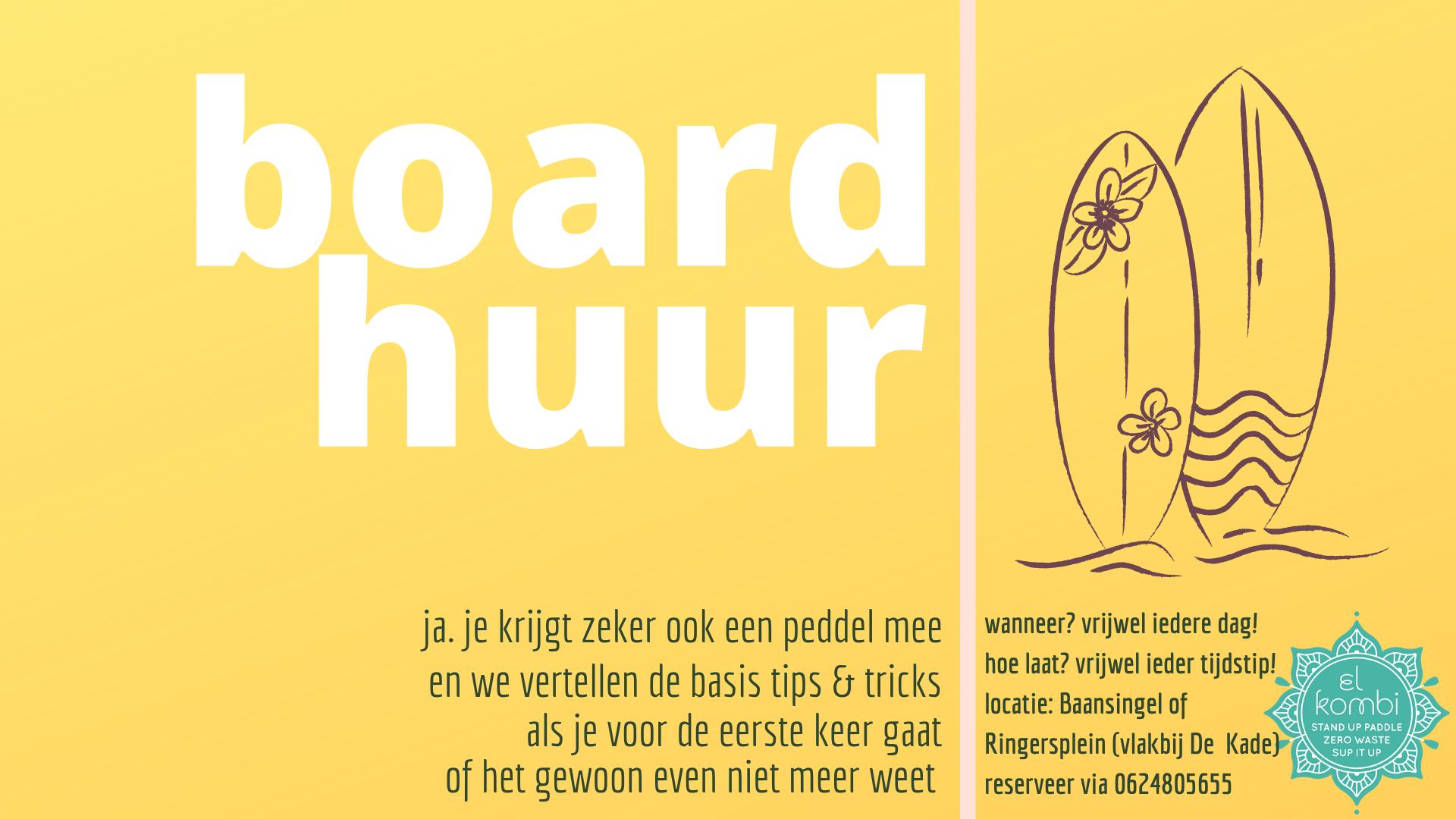 2020 zomer Board Huur Suppen in Alkmaar FB suppen in alkmaar
