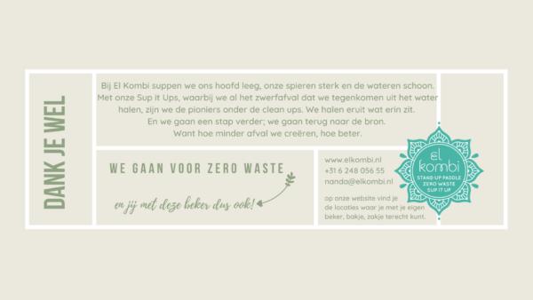 achterzijnde Flyer food container soepbeker el kombi zero waste alkmaar