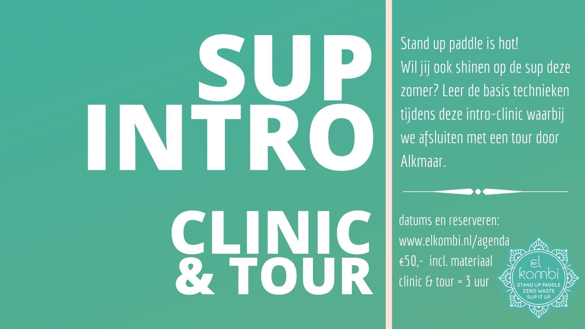 2021 Sup Intro Clinic & Tour Alkmaar