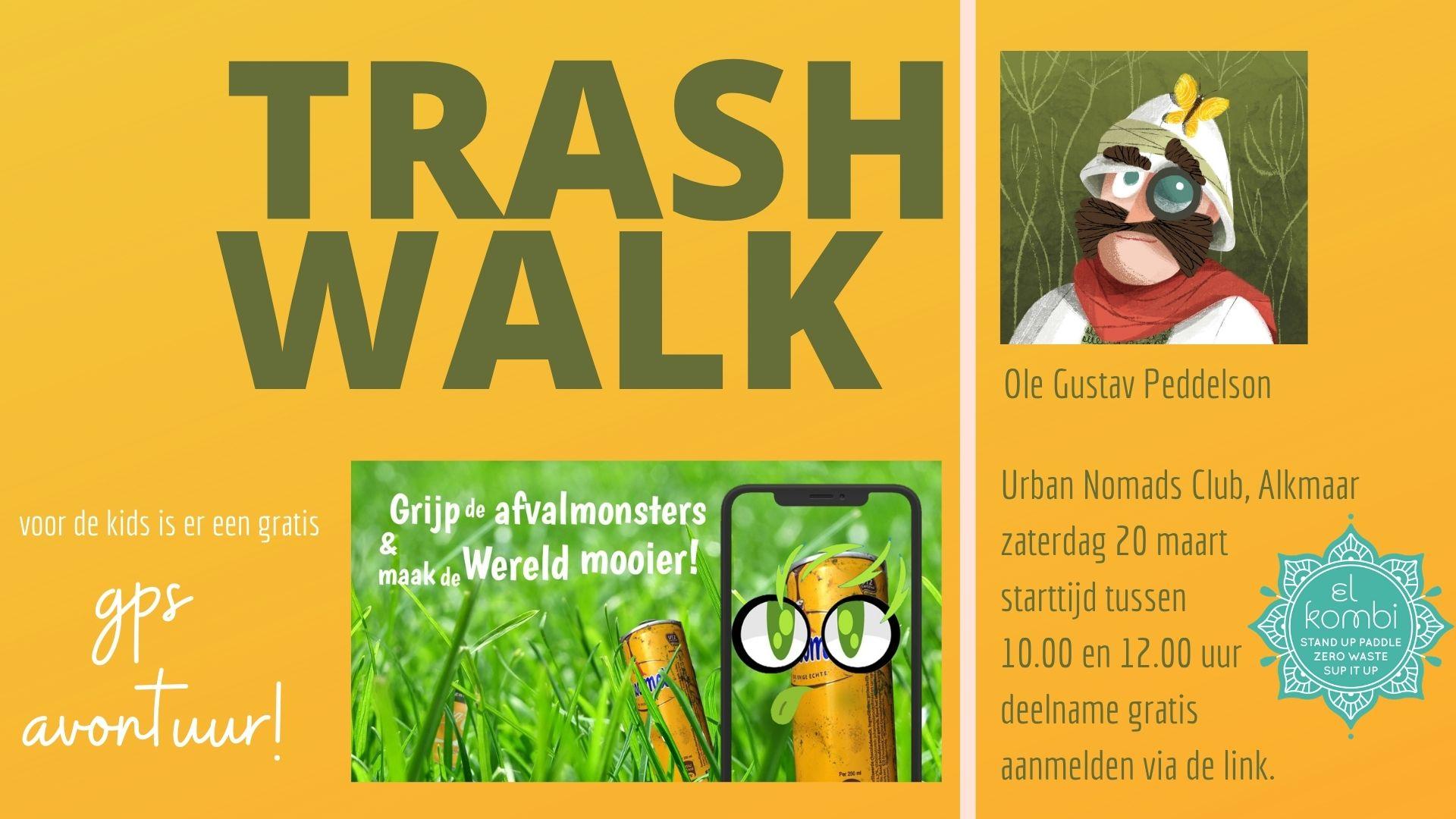 20210320 Trashwalk Ole Gustav Peddelson El Kombi SUP Zero Waste Alkmaar