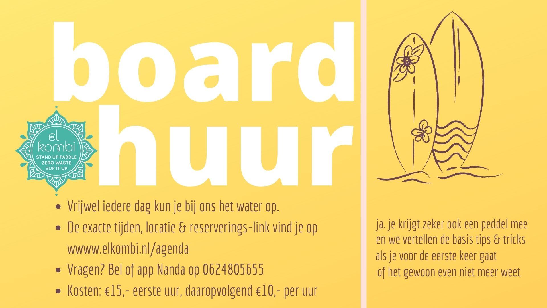 Boardhuur el kombi sup Alkmaar