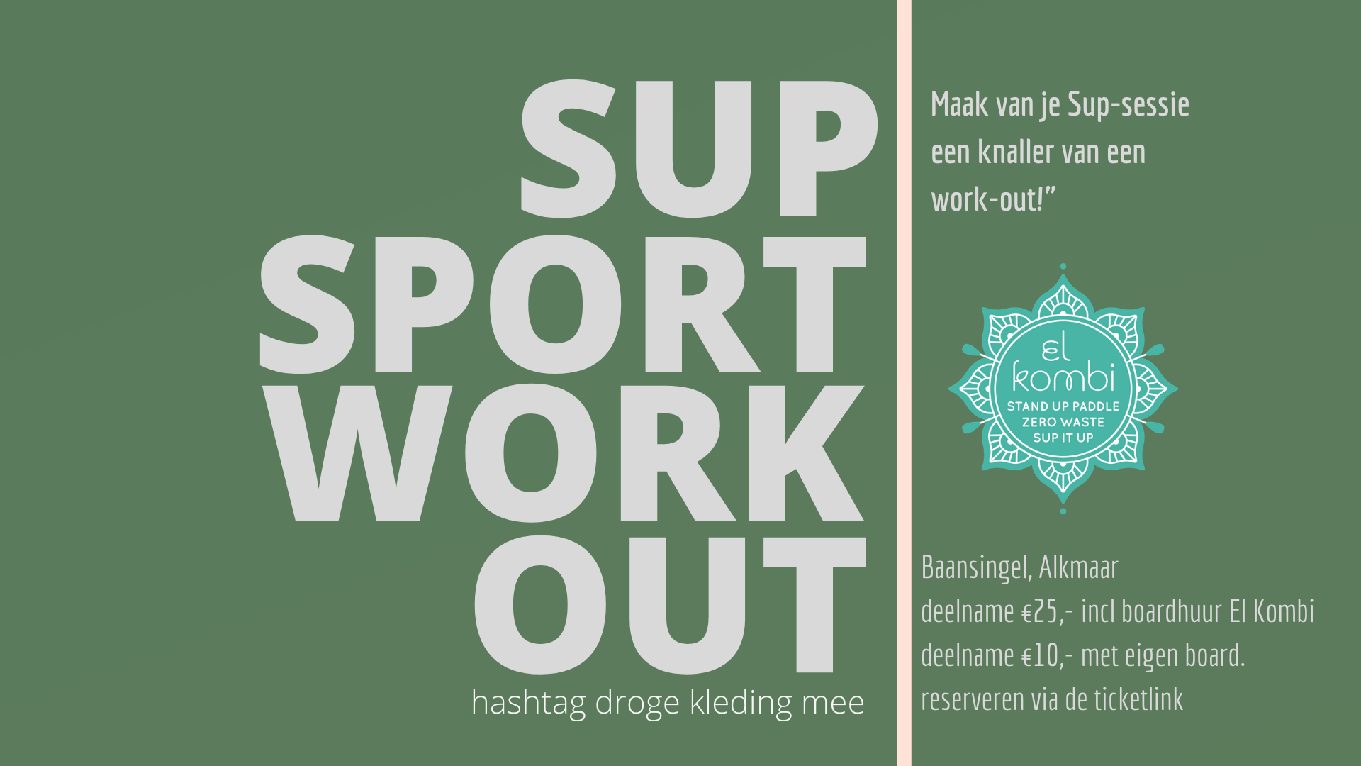 2021 Sup Sport Work Out zonder datum baansingel