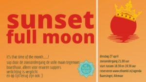 20210427 sunset full moon