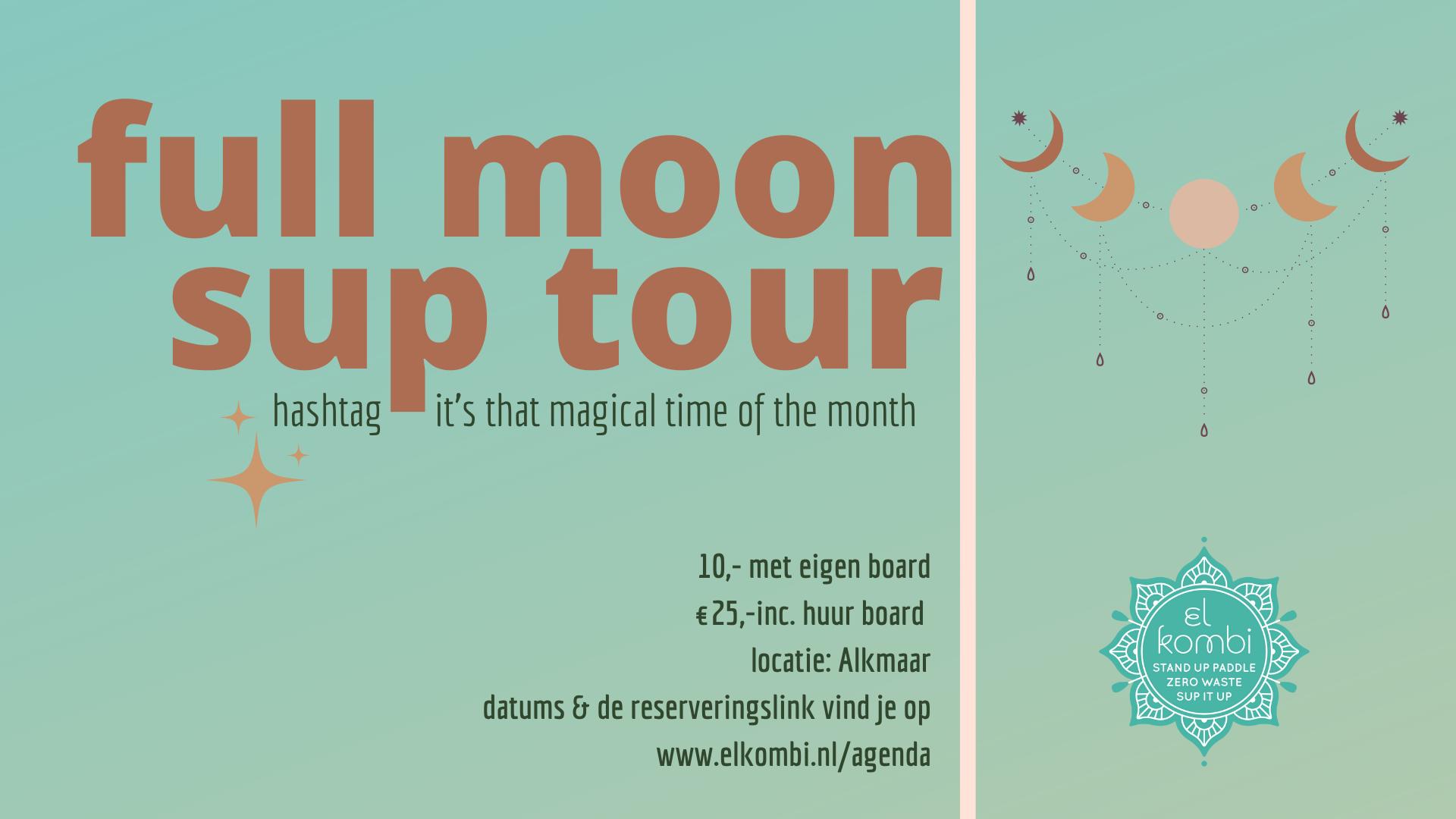 2021 Full Moon Sup Tour Alkmaar El kombi SUP Alkmaar